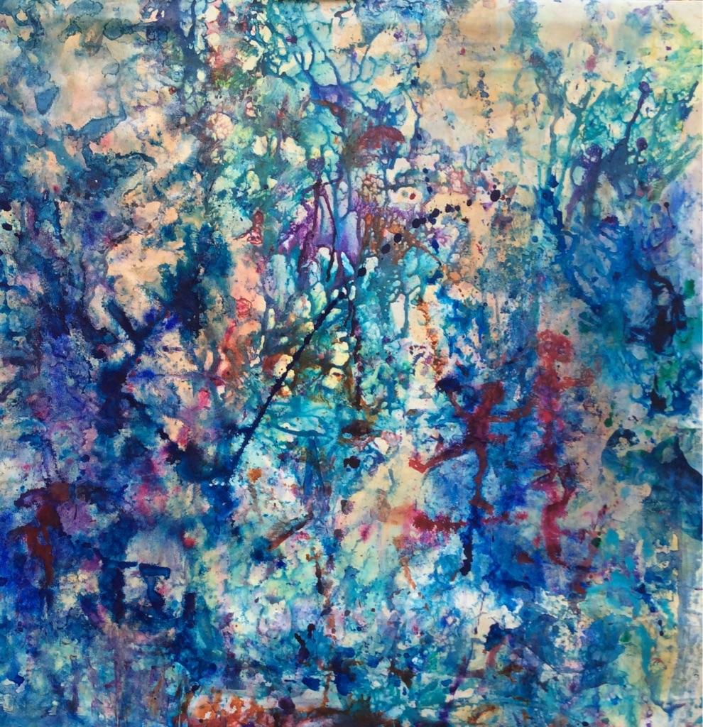 blue bleu abstrait