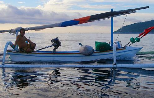 barque de peche balinaise Balinese fisherman
